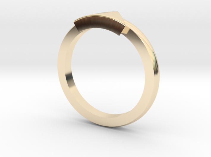 Triangle Mid Finger Ring 3d printed