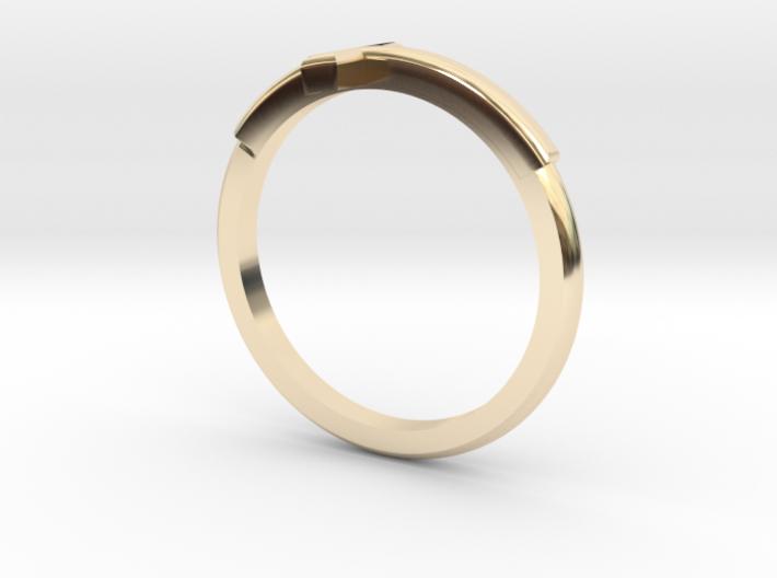 Cross Mid Finger Ring 3d printed