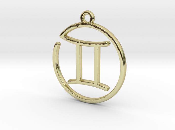 Gemini Zodiac Pendant 3d printed