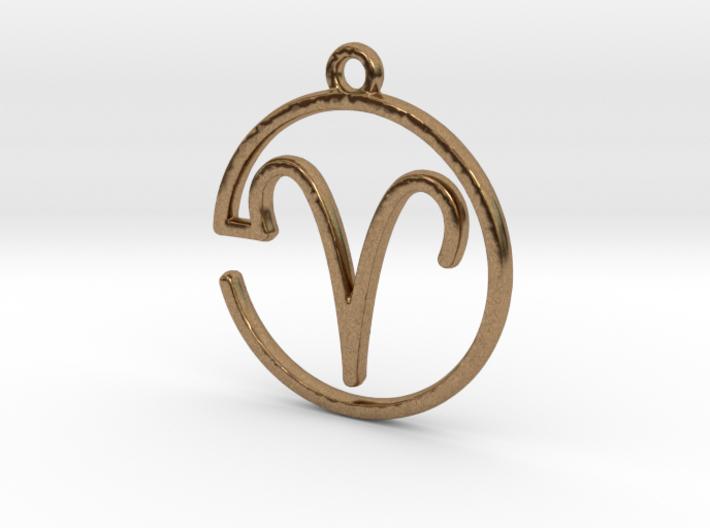 Aries Zodiac Pendant 3d printed