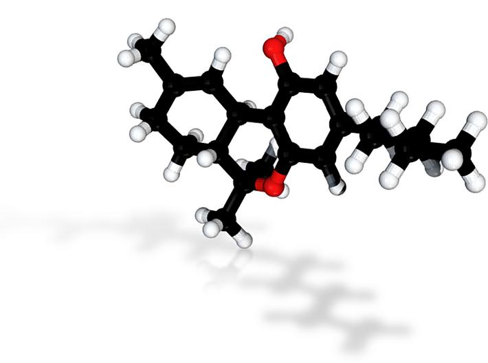 THC Molecule Model, scientific. 3d printed