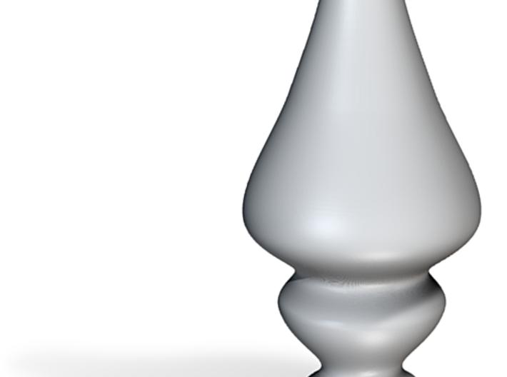 Porcelain Tear Drop Plug 3d printed