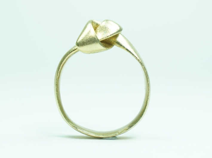 Knot Ring - Size 8 3d printed Brass