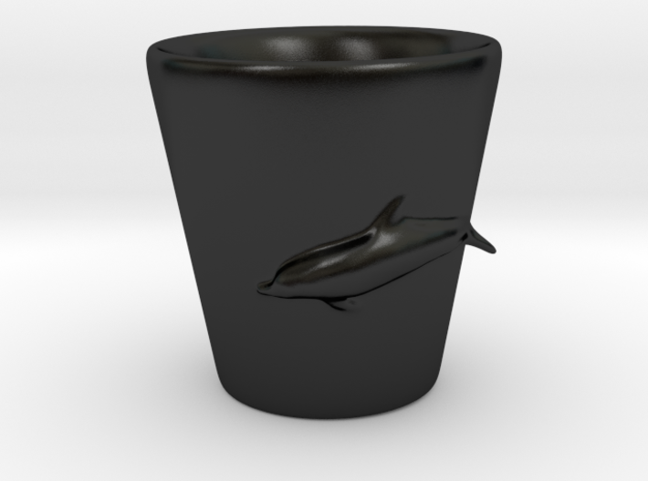 Dolphin Shot Glass 3d printed