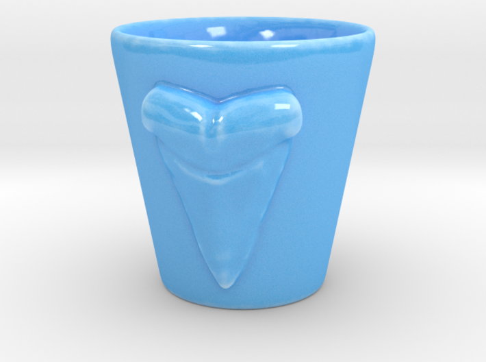 Shark tooth shot glass 3d printed