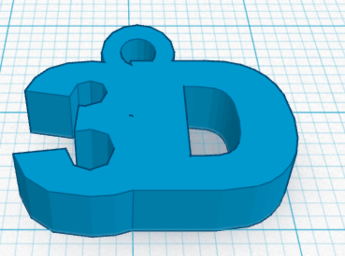 3D Key Fob 3d printed A rendering of the design