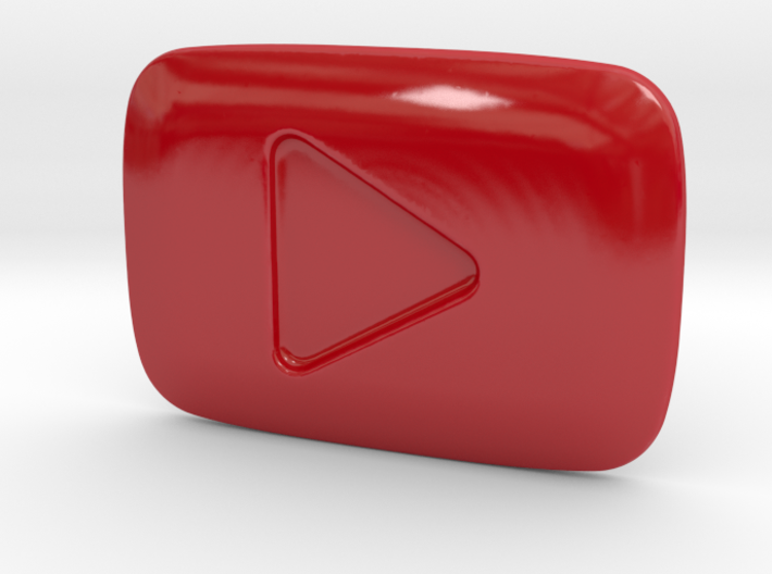 Porcelain YouTube Play Button Award 3d printed