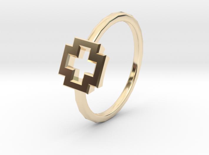 Dainty Plus Ring 3d printed