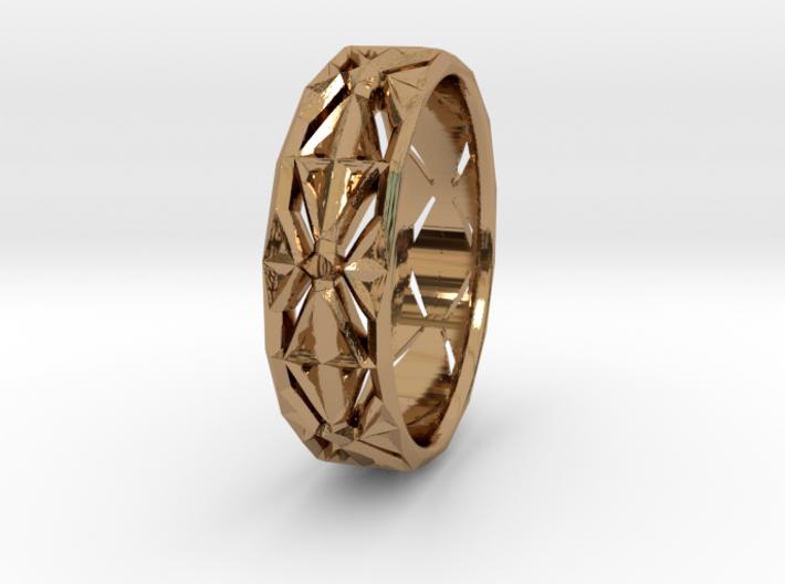Cut Facets Ring Sz. 4 3d printed