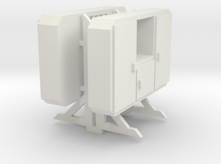 Truck Cab Guard 3 Door With Window 1-87 HO Scale 3d printed