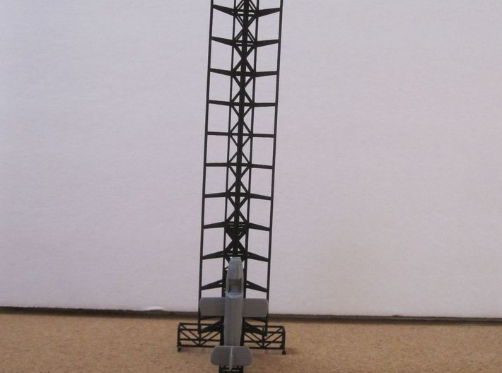 1/144 Launch tower for Bachem Natter 3d printed