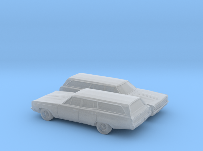 1/160 2X 1968-70 Plymouth Satellite Station Wagon 3d printed