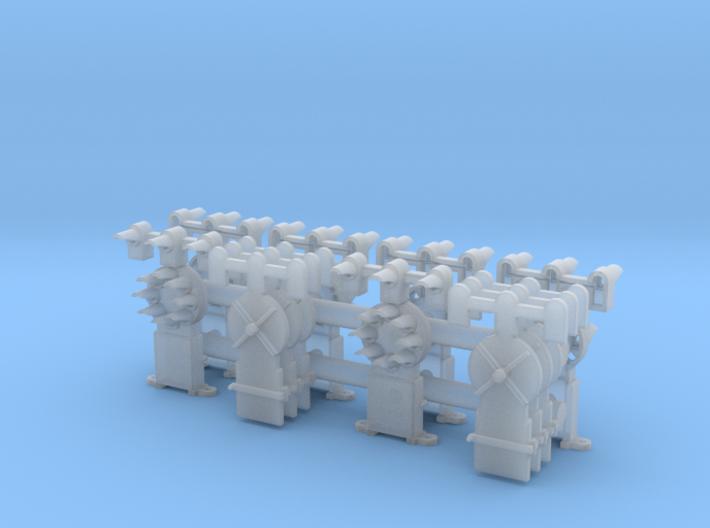 Dwarf B&O CPL-UpperSpdLamps(6) 'O'/027 - 48:1 Scal 3d printed