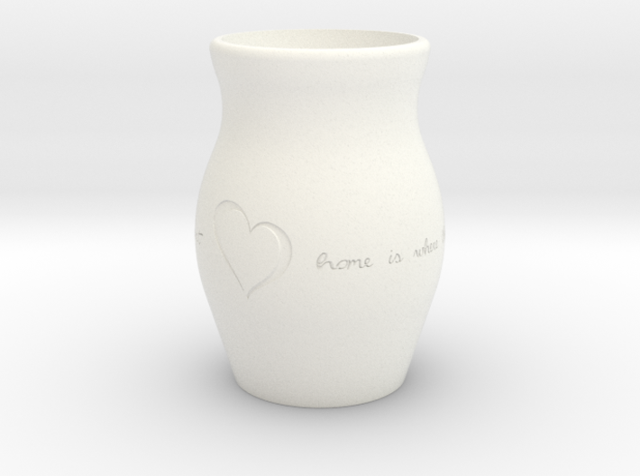 """""""Home Is Where the Heart Is"""" Vase 3d printed"""