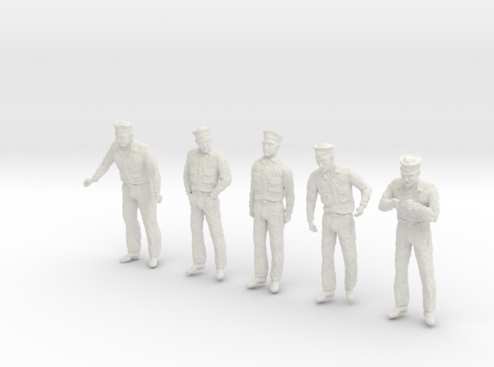 1/24 US Navy Sailor Set 8 3d printed