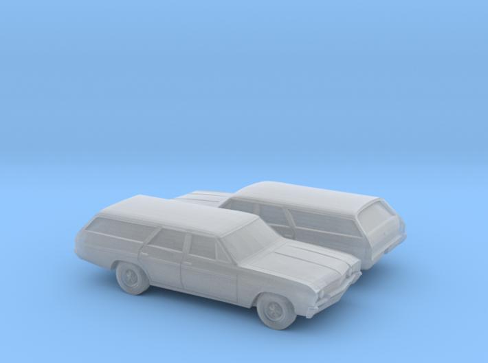 1/160 2X 1964-67 Buick Skylark Station Wagon 3d printed