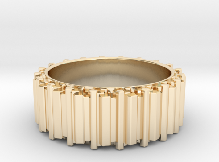 Crystal Ring - ring size ca 12 3d printed