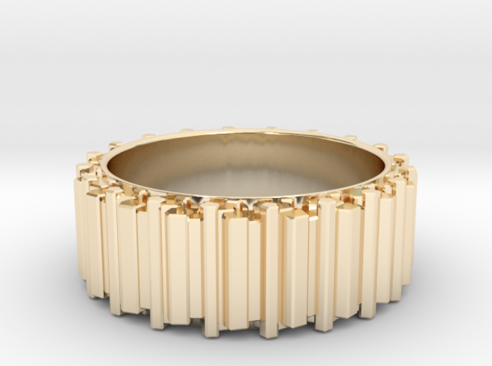 Crystal Ring - ring size ca 14 3d printed