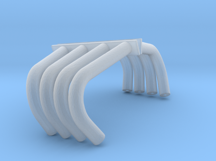 Funny Car Style Headers 1/24 3d printed