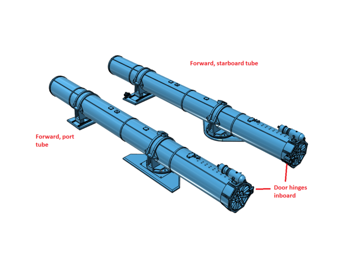 1/48 Forward Torpedo Tubes for PT Boats 3d printed Assembly instructions.