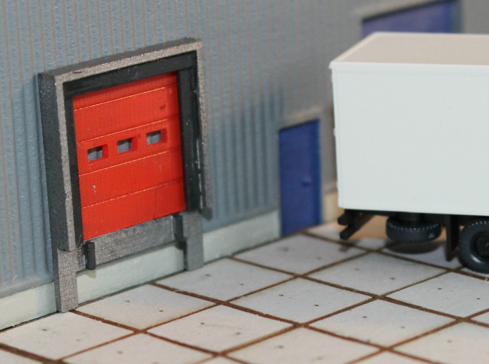 N Scale Loading Dock +Door 12pc 3d printed