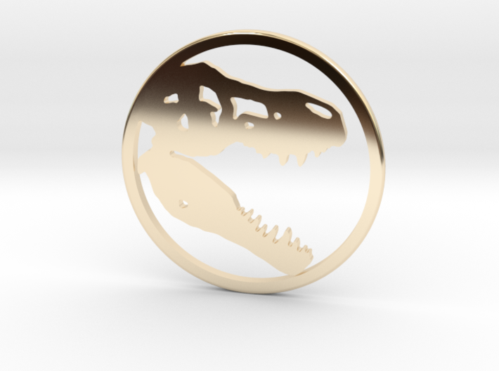 Tyrannosaurus Head bone necklace Pendant 3d printed