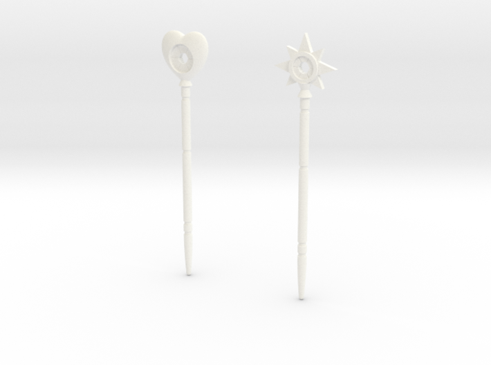 "Magic wands of Trollan ""heart and star SET"" 3d printed"