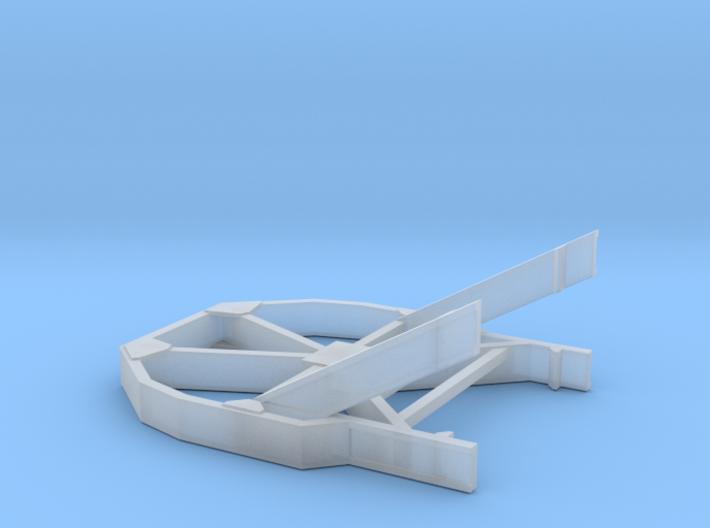 1/87 Boeing Fuselage Icebreaker for flatcar 3d printed
