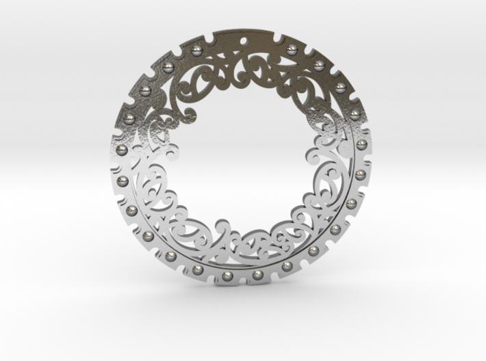 Kowhaiwhai Disc Earring ~ 33mm 3d printed