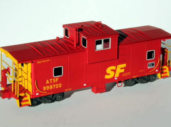 Caboose ATSF Battery Box 3d printed Painted part shown assembled with other parts