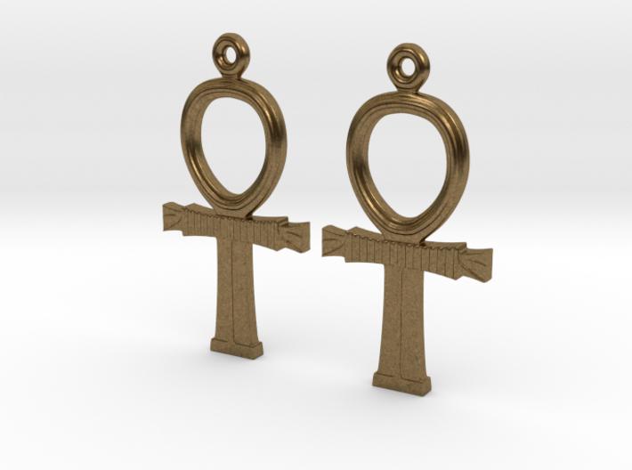 Ankh EarRings - Pair - Metal 3d printed