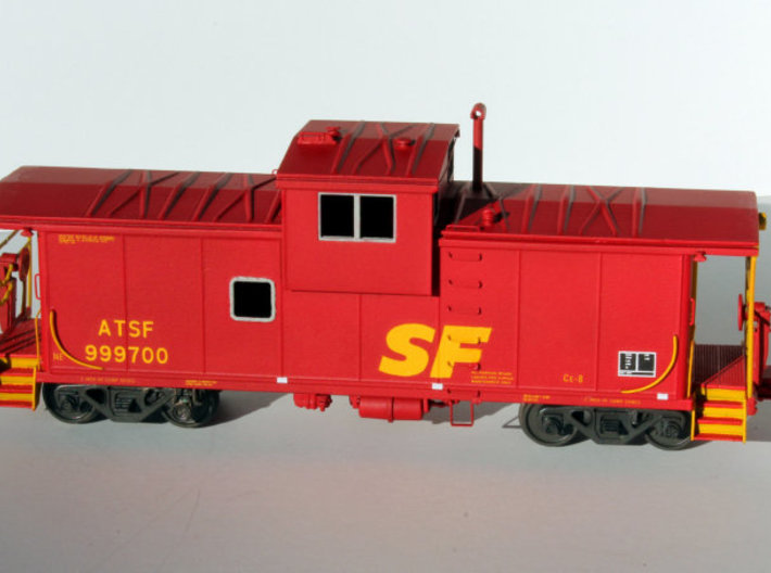 EV Body ATSF CE-8/CE-11 3d printed Painted part shown assembled with other parts