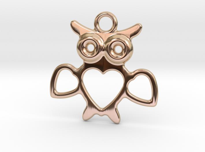 Owlet Pendant 3d printed