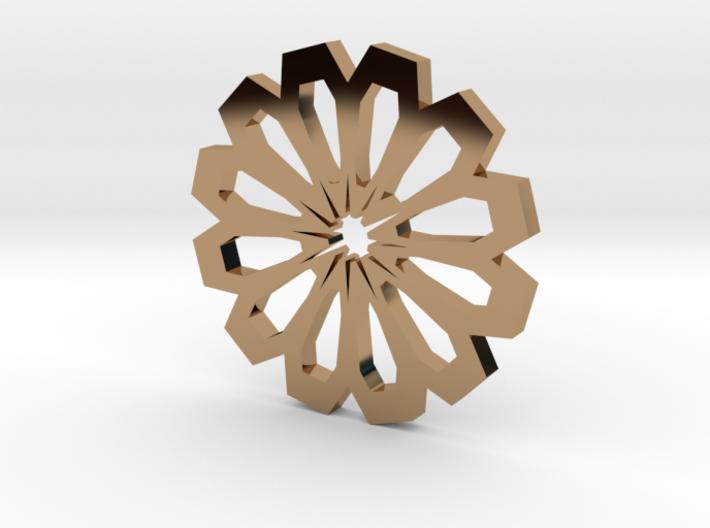 Sun-centered pendant 3d printed