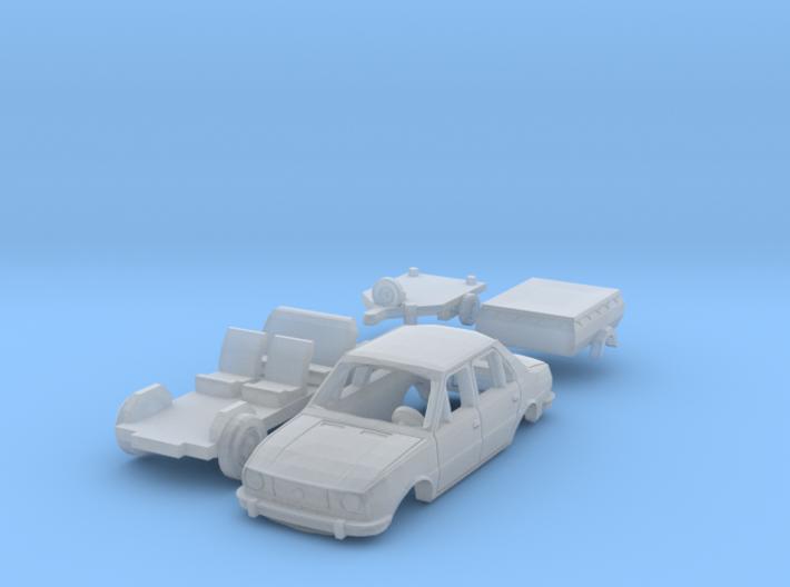 SET Skoda 105 L + HP 350.01 (TT 1:120) 3d printed