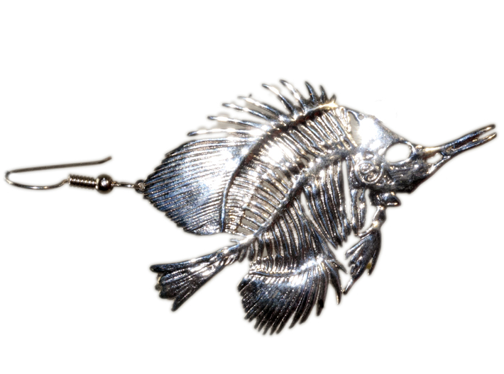 Butterfly Fish Earring/Pendant 3d printed