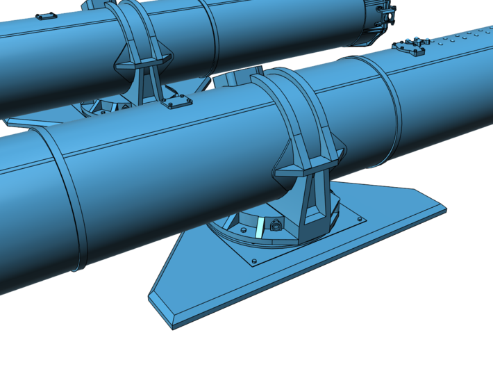 1/32 Torpedo Tubes (forward pair) for PT Boats 3d printed
