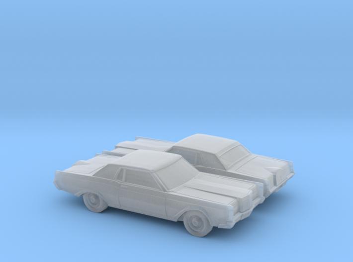 1/160 2X 1968-71 Lincoln Mark III 3d printed