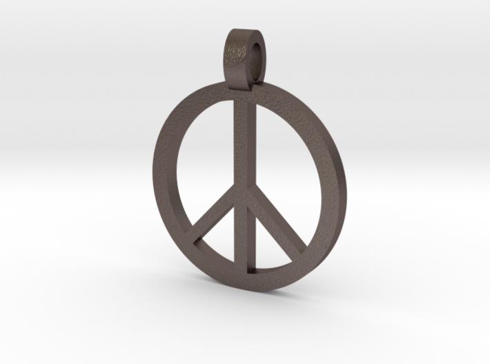 Peace symbol pendant deftfjqaq by utopianlonging peace symbol pendant 3d printed aloadofball Images