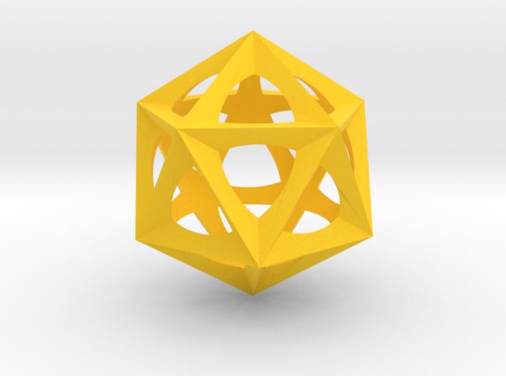 0577 Icosohedron (E, 2.5 cm) 3d printed