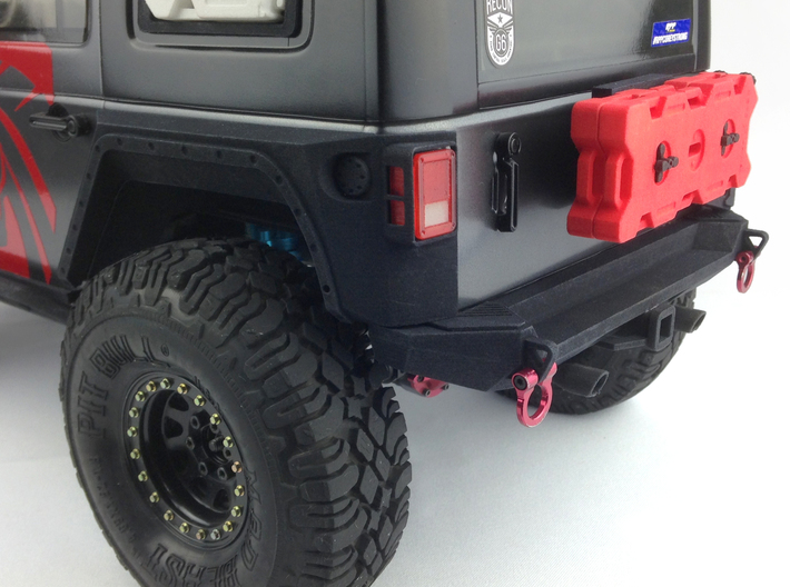 AJ10036 Gen II Rear XRC Bumper with Rear mount 3d printed Shown mounted other parts sold separately