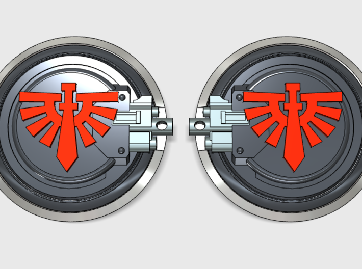 10x Angel Legion - Aggressor:2 combat shields 3d printed Now, 5 Left and 5 right