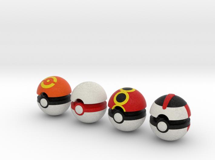 Pokeballs (Set 04) 3d printed