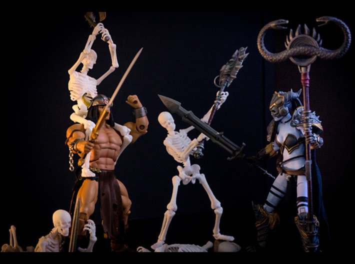 Banner-02 6-7inch MOTU 3d printed Everything but the male MOTUC figure was 3D printed