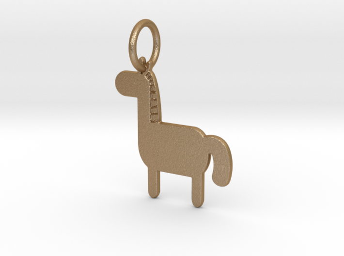 Horse Keychain 3d printed Horse Keychain (different materials have different prices)