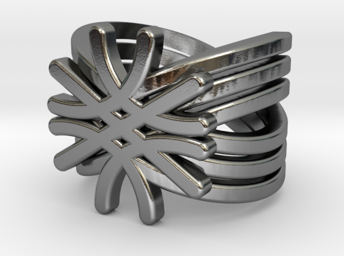 Quantum Wave Ring 3d printed