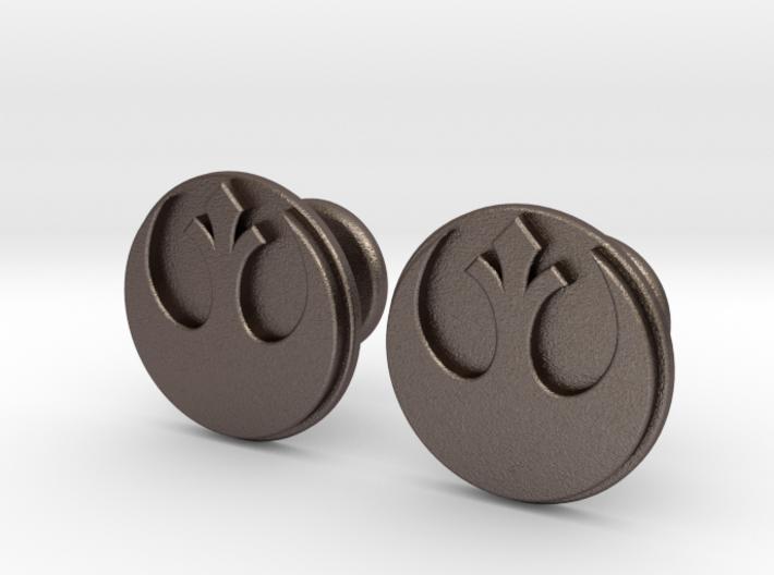 Rebel Alliance Cufflinks 3d printed