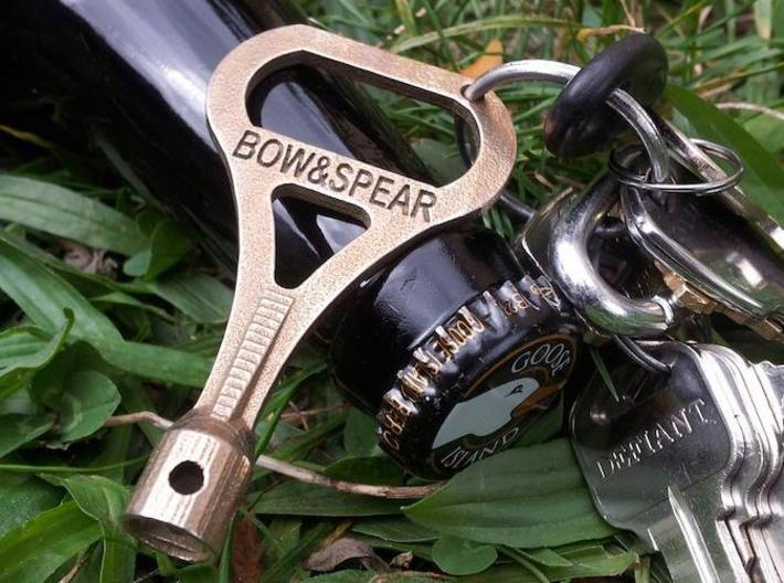 Bow&Spear DruNKey - A Drum Key Bottle Opener 3d printed A drum key. A bottle opener. A DruNKeyDrumkey, Bow&Spear Style