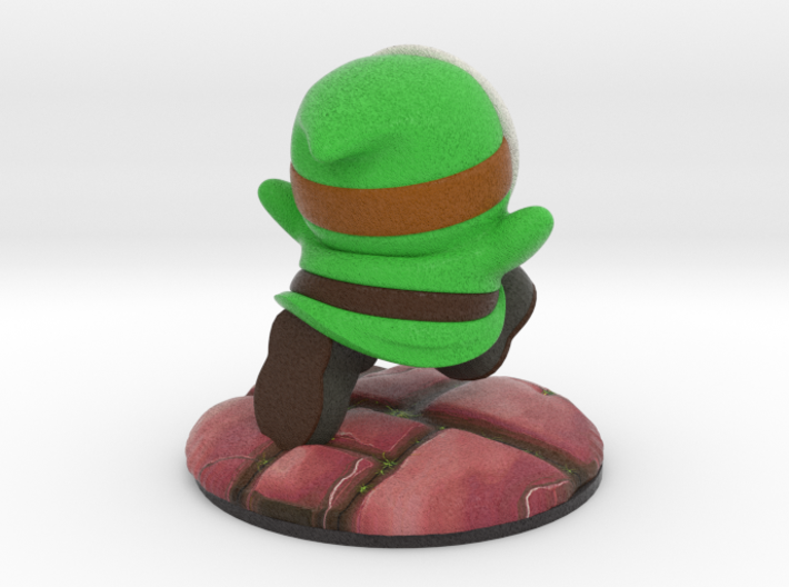 Shy Guy - Green (Bowser's Legion #1) 3d printed