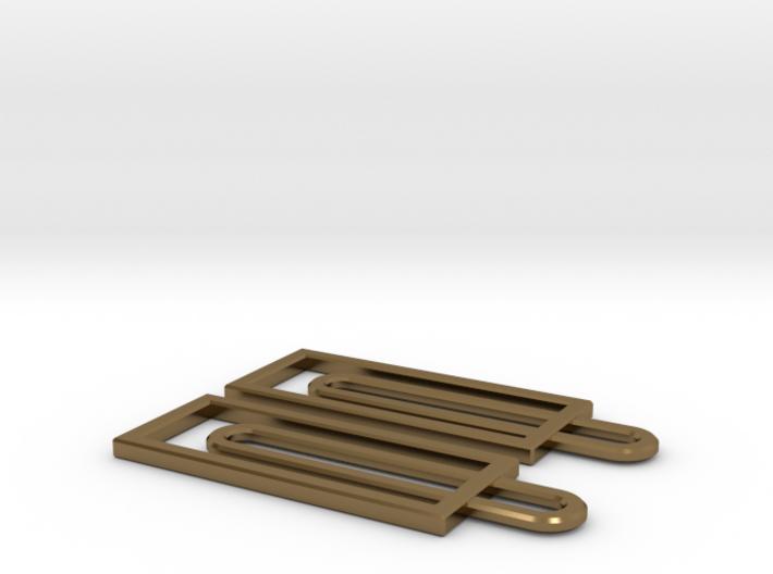 Simple Geometry - Geometric Earrings in Fine Metal 3d printed